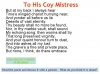 To His Coy Mistress Andrew Marvell (slide 8/36)